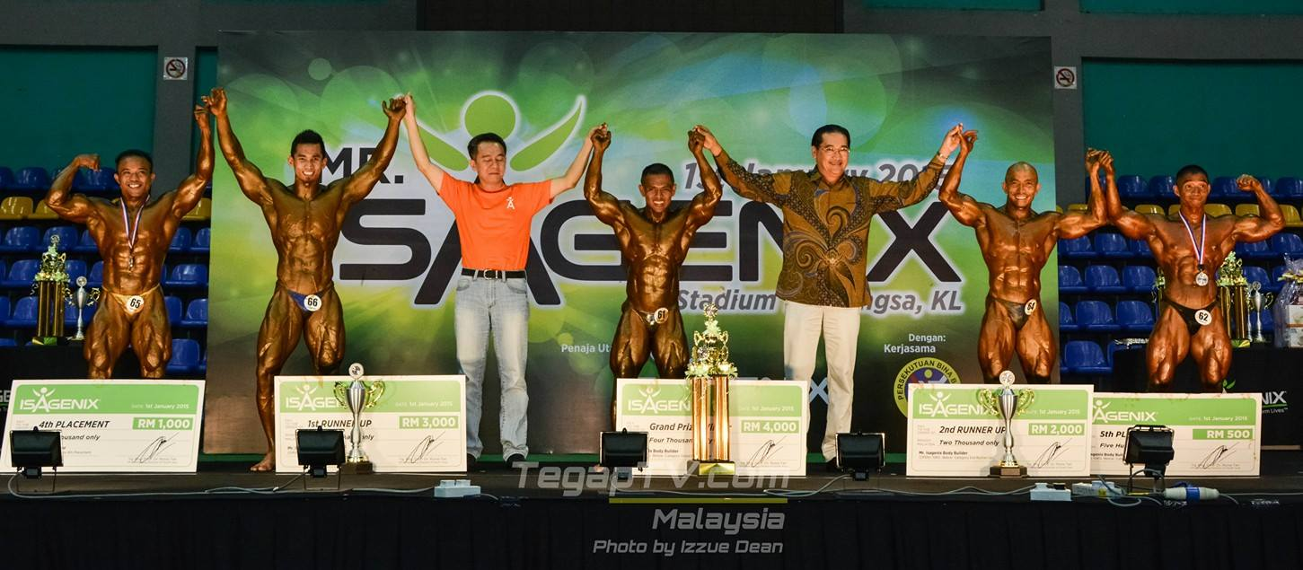 Winners Bodybuilding Below 70kg (Open)
