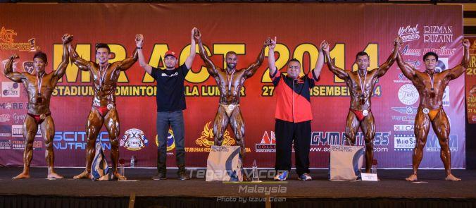 Winners Bodybuilding New Talent (Above 70kg)